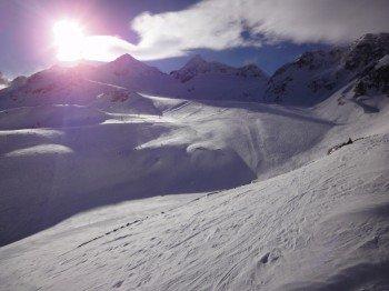 Blick auf die Skirouten am Rotadlkopf