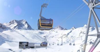 Die 3S Eisgratbahn ist mit gratis WLAN ausgestattet.