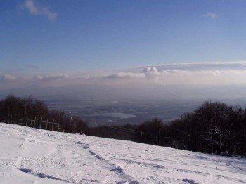 Toller Ausblick im Skigebiet Sturmer Bournak.