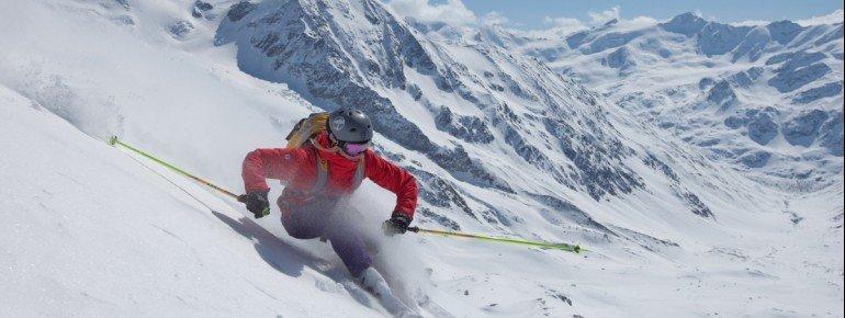 An der Schöntaufspitze finden fortgeschrittene Skifahrer schöne, schwarze Pisten.