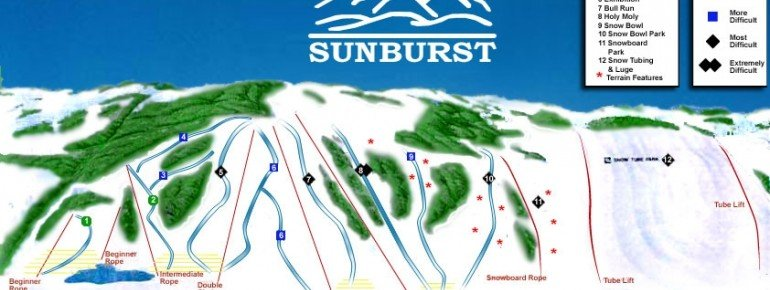 Pistenplan Sunburst Ski Area