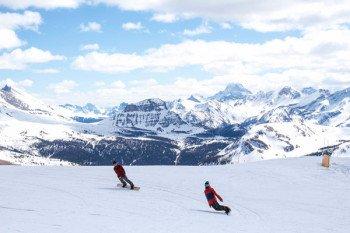 Die traumhaften Skigebiete mit besten Schneeverhältnissen im Banff National Park sind immer einen Besuch wert.