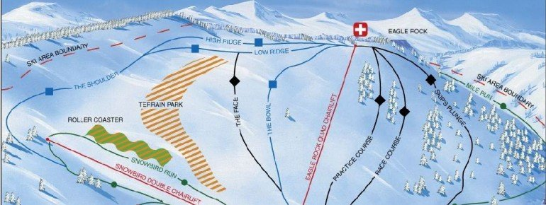 Pistenplan Tahoe Donner Downhill