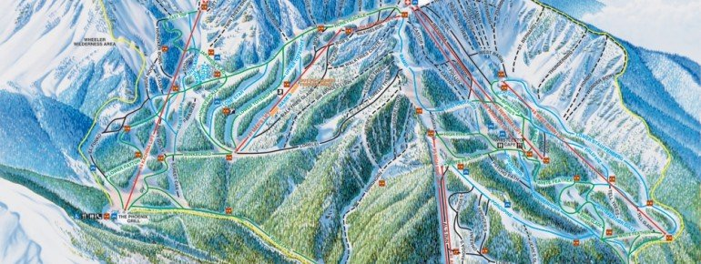 Pistenplan Taos Ski Valley