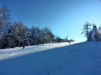6,5 Pistenkilometer warten im Skigebiet Telnice.