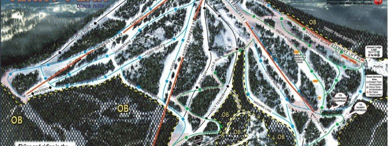 Pistenplan Terry Peak Ski Area
