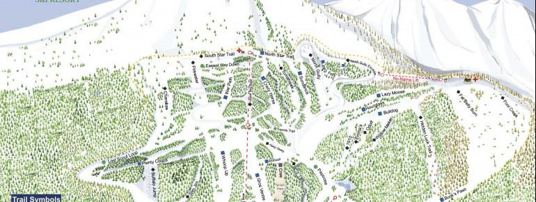 Pistenplan Teton Pass Ski Resort
