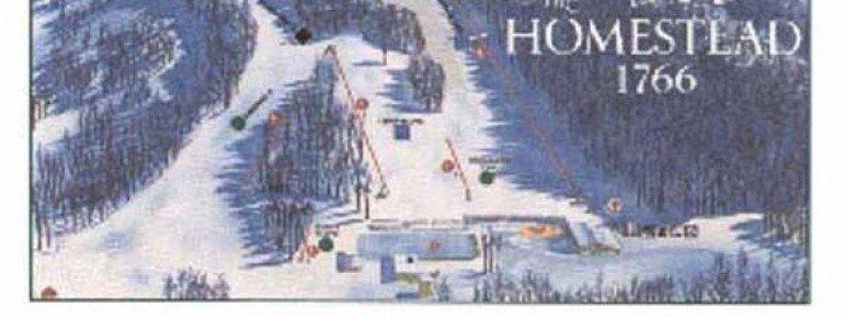 Pistenplan The Homestead Ski Area