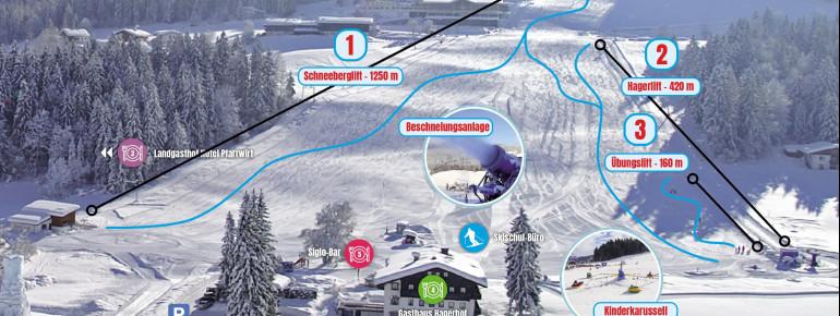 Pistenplan Schneeberglifte Thiersee