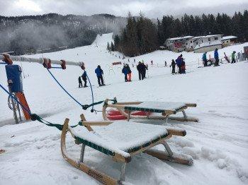 Ein Skikarussell sorgt für Abwechslung.