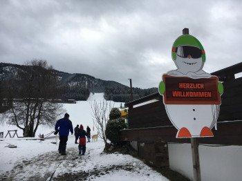 Der Eingang zum Skigebiet in Mitterland.
