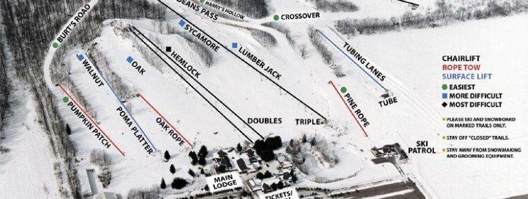 Pistenplan Timber Ridge Ski Area