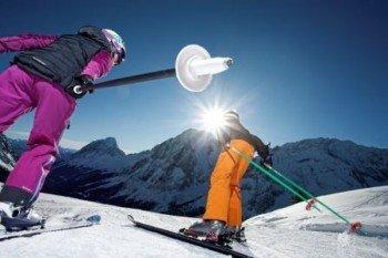 Perfekte Skibedingungen auf der Ehrwalder Alm.