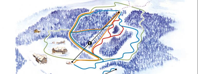 Pistenplan Skigebiet Tonnerhütte