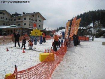 Kinder Übungsareal an der Bergstation der Königswiesenbahn