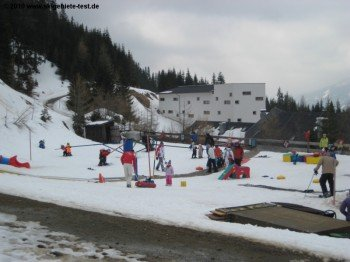 Übungsareal an der Talstation der Aineckbahn