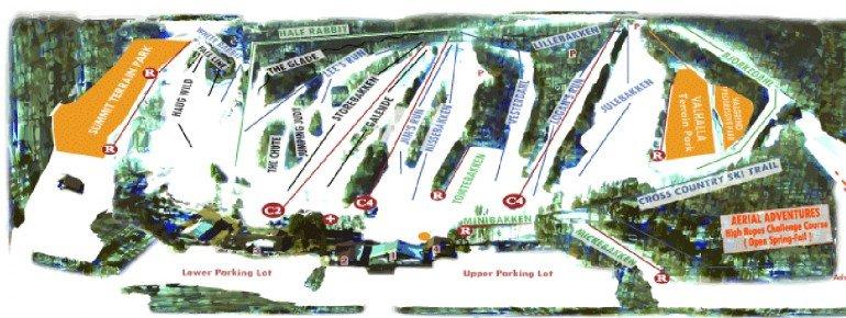Pistenplan Trollhaugen Ski Area