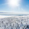 In der Sonne macht Skifahren doppelt so viel Spaß.
