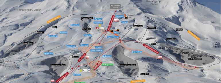 Pistenplan Turoa - Mt Ruapehu
