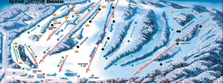 Pistenplan Tyrol Basin
