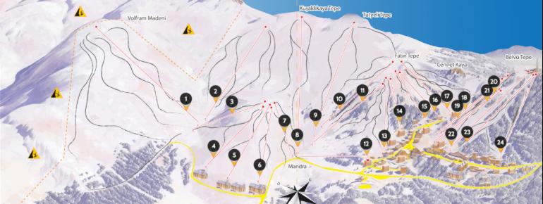 Pistenplan Uludağ Ski Center
