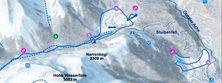 Pistenplan Niederthai Umhausen