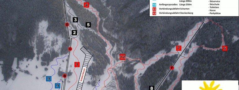 Pistenplan Unterammergau Steckenberg