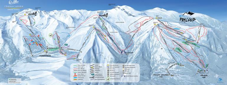 Pistenplan Val d'Allos 1500 Le Seignus