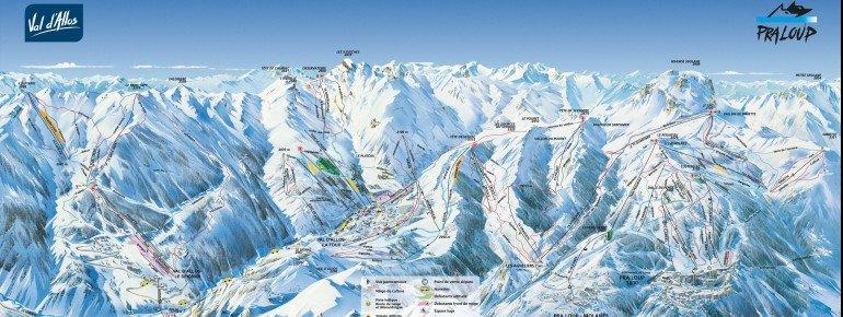 Pistenplan Val d Allos 1800 Le Foux