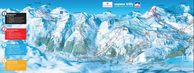 Pistenplan Val d'Isère (Espace Killy)