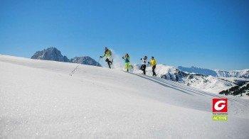 Auf den Winterwanderwegen lässt sich die Region zu Fuß erkunden.