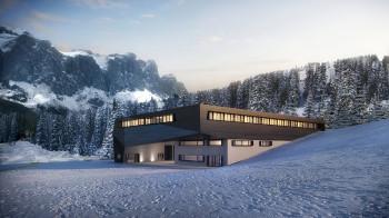 Die neue Talstation der 10er Gondel am Piz Seteur.