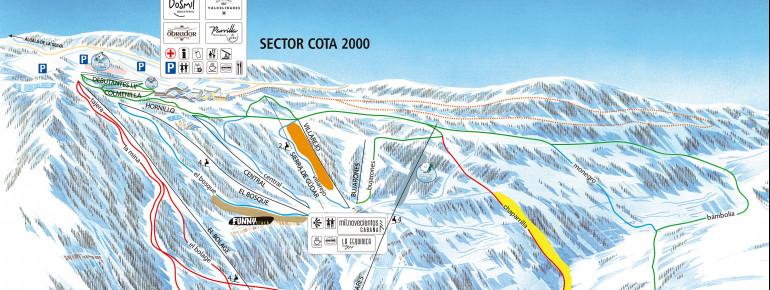 Pistenplan Valdelinares - Sierra de Gúdar
