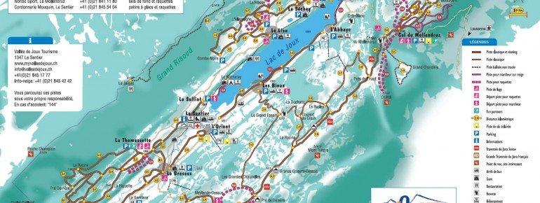 Pistenplan Vallee de Joux