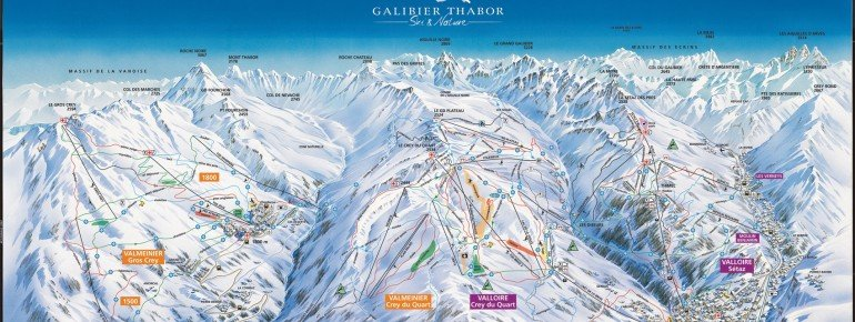 Pistenplan Galibier Thabor - Valmeinier Valloire