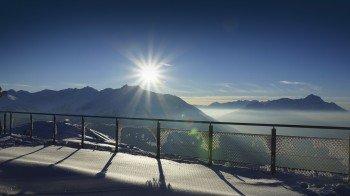 360° Panorama an der Venet Gipfelhütte