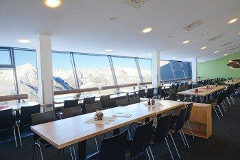 Panoramarestaurant der Venet Gipfelhütte