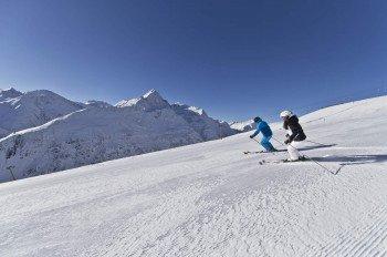 15 präparierte Pistenkilometer stehen Wintersportlern im Skigebiet Vent im Tiroler Ötztal zur Verfügung.