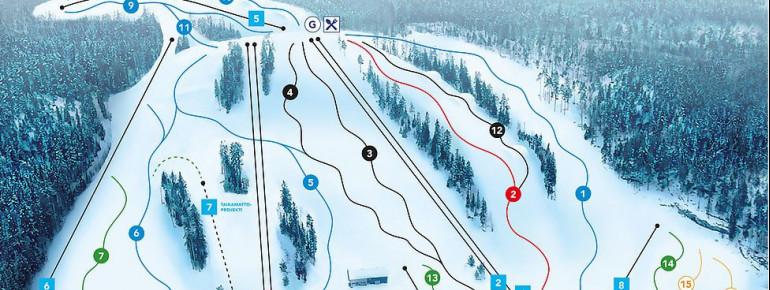 Pistenplan Vihti Ski Center