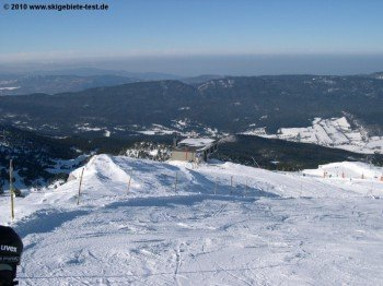 Blick auf die im Westen sanft auslaufenden Alpen!