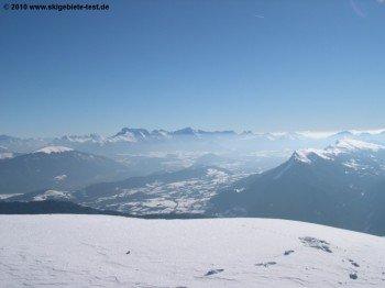 Grandiose Aussichten (zum Teil bis zum Mont Blanc)!