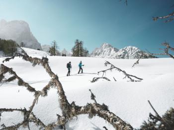 Die Umgebung rund um Virgen bietet sich zum Schneeschuhwandern an.