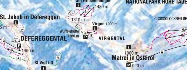 Pistenplan Virgen in Osttirol