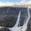 Luftbild des Skigebiets Voithenberg