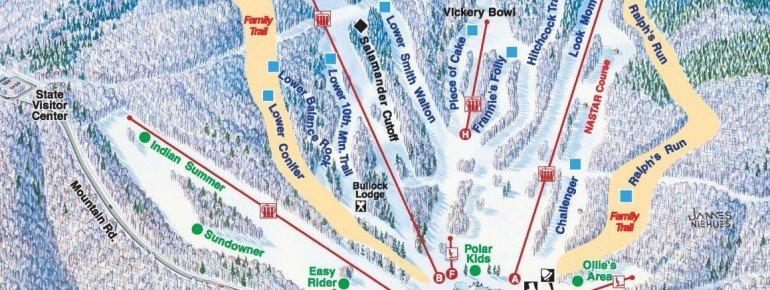 Pistenplan Wachusett Mountain