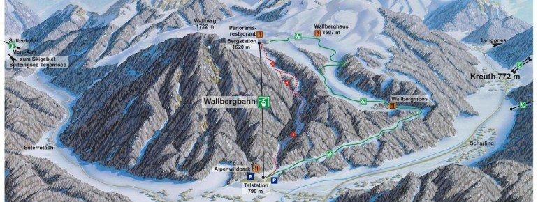 Pistenplan Wallberg - Rottach-Egern