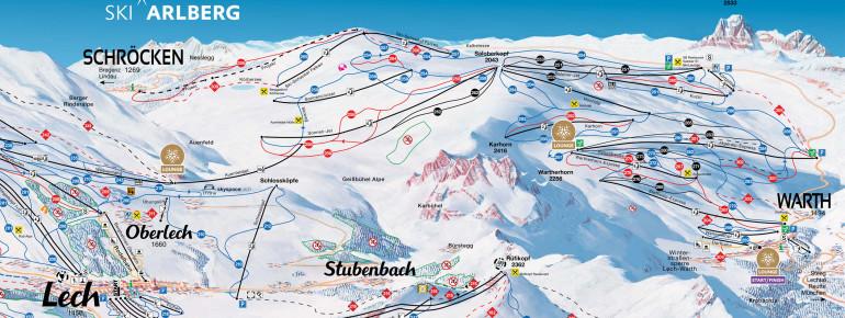 Pistenplan Warth-Schröcken und Ski Arlberg