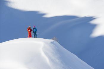 In einem der schneesichersten Skigebiete in den Alpen kommen Freerider voll auf ihr Kosten.