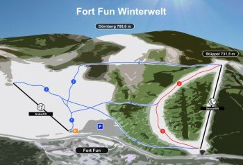 Pistenplan Fort Fun Winterwelt