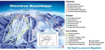 Pistenplan- Skigebiet Wasserkuppe in Hessen